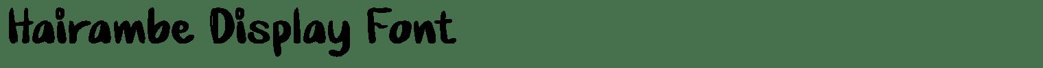 Hairambe Display Font