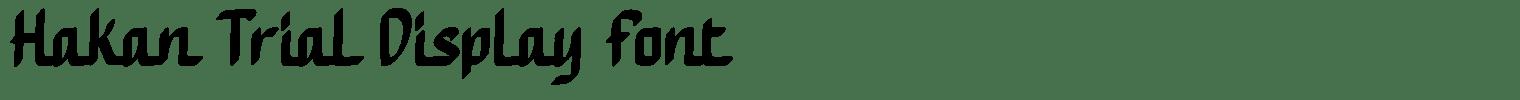 Hakan Trial Display Font