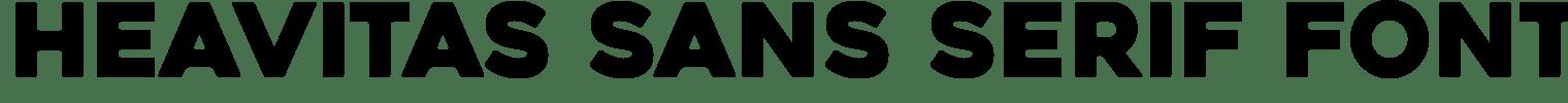 Heavitas Sans Serif Font