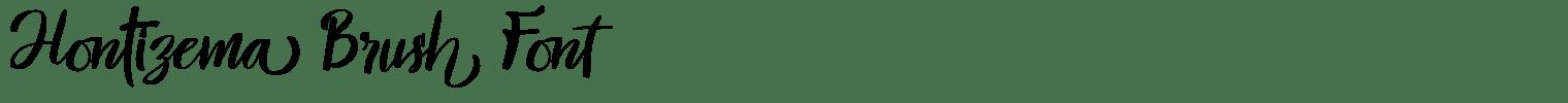 Hontizema Brush Font