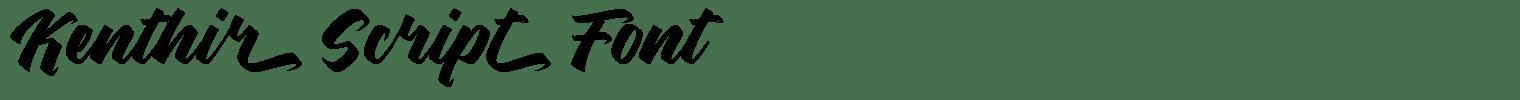 Kenthir Script Font