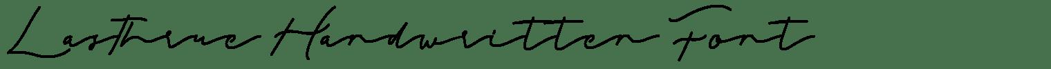 Lasthrue Handwritten Font