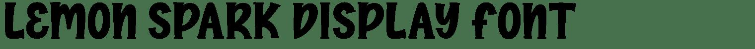Lemon Spark Display Font