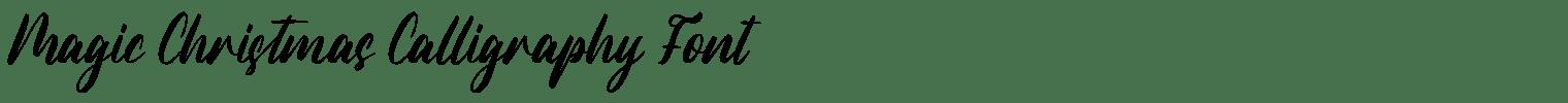 Magic Christmas Calligraphy Font
