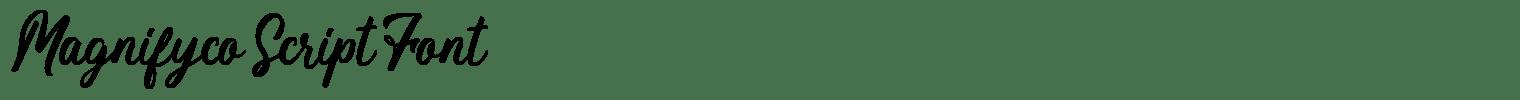 Magnifyco Script Font