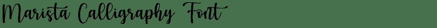 Marista Calligraphy Font