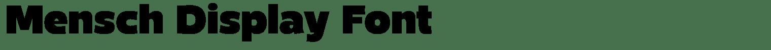 Mensch Display Font