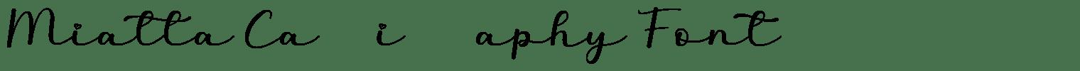 Miatta Calligraphy Font