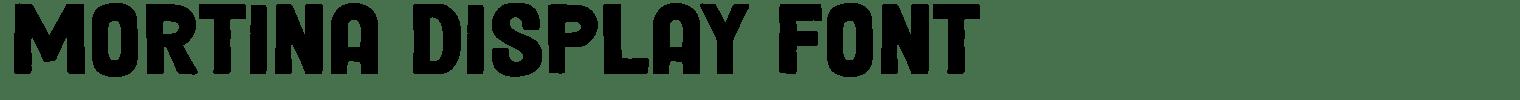Mortina Display Font