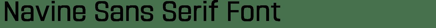 Navine Sans Serif Font