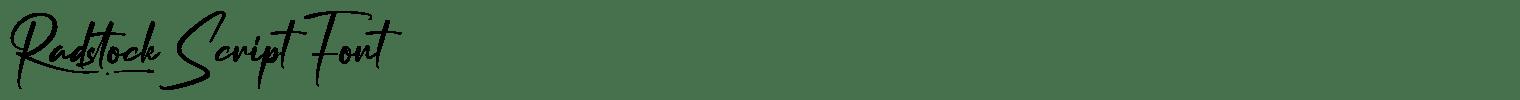 Radstock Script Font
