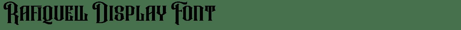 Rafiquell Display Font