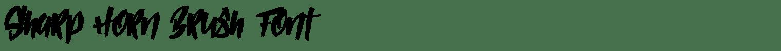 Sharp Horn Brush Font
