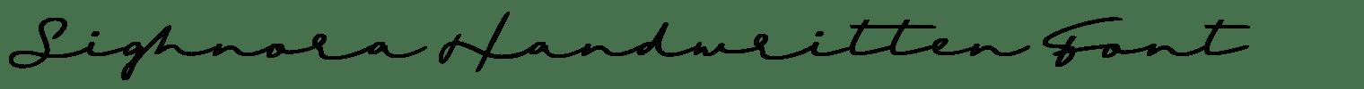 Sighnora Handwritten Font
