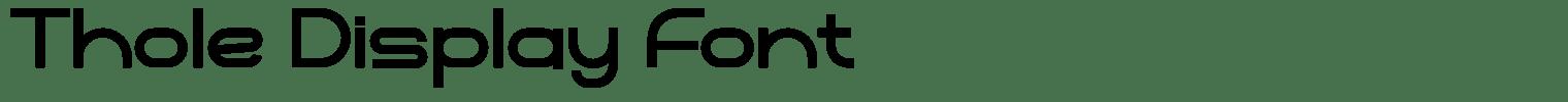 Thole Display Font