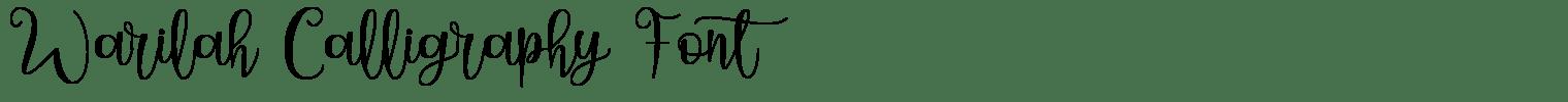 Warilah Calligraphy Font