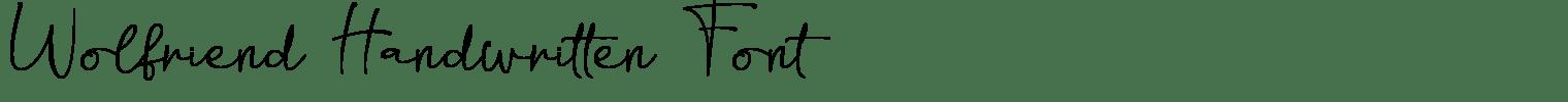 Wolfriend Handwritten Font