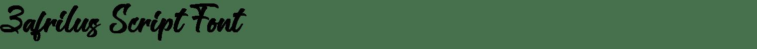 Zafrilus Script Font