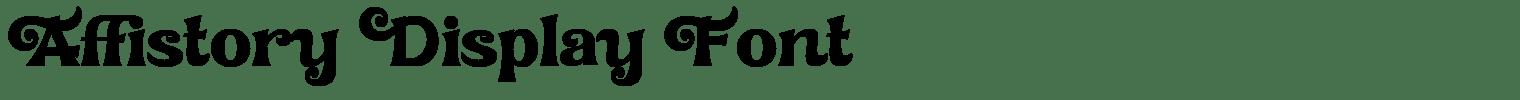 Affistory Display Font