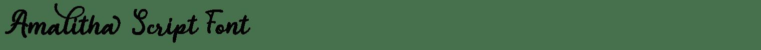 Amalitha Script Font