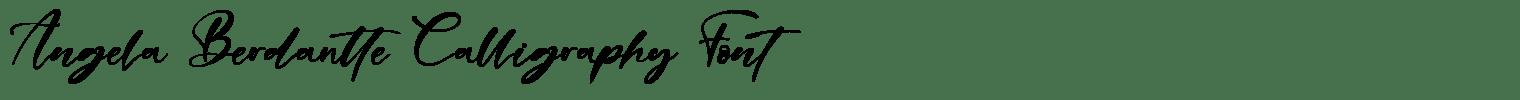 Angela Berdantte Calligraphy Font
