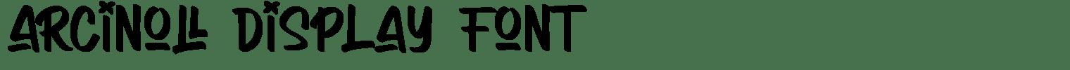 Arcinoll Display Font