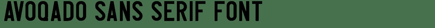 Avoqado Sans Serif Font
