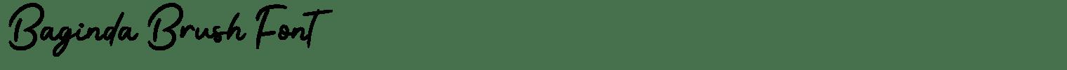 Baginda Brush Font