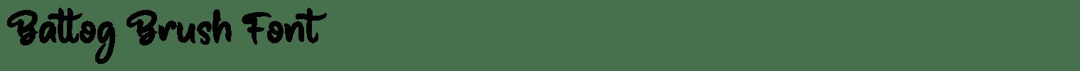 Battog Brush Font
