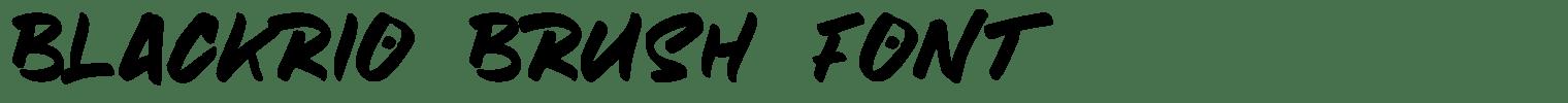 Blackrio Brush Font