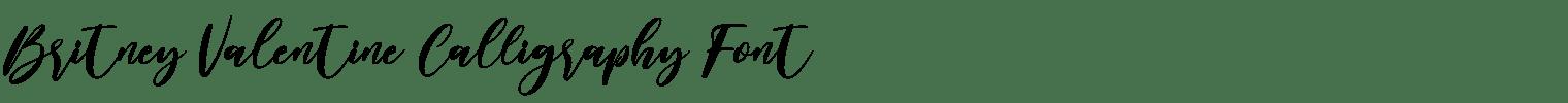 Britney Valentine Calligraphy Font