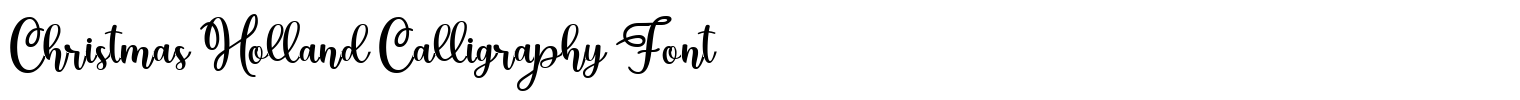 Christmas Holland Calligraphy Font