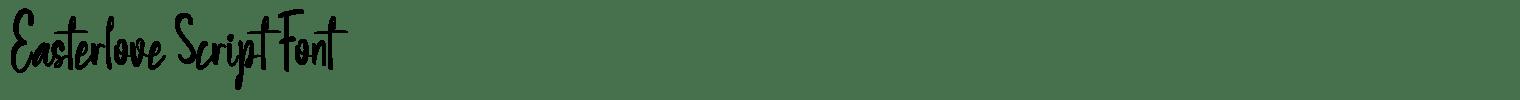Easterlove Script Font