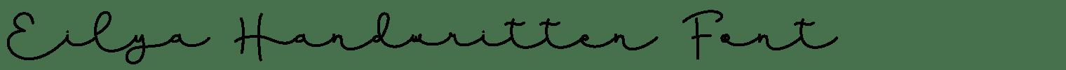Eilya Handwritten Font