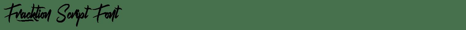 Fracktion Script Font