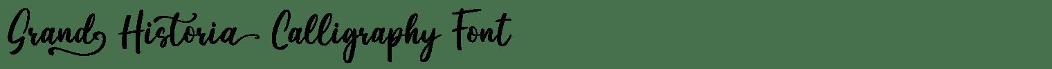 Grand Historia Calligraphy Font