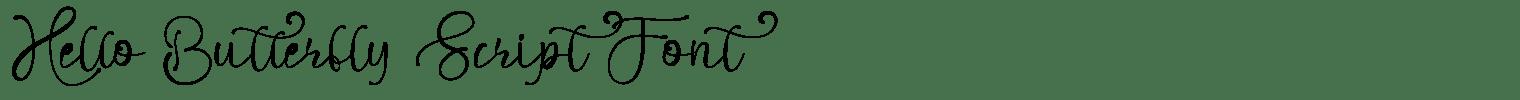 Hello Butterfly Script Font