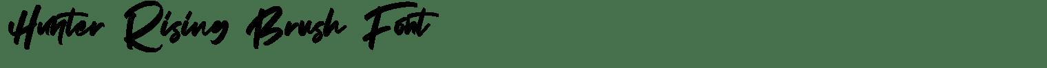 Hunter Rising Brush Font