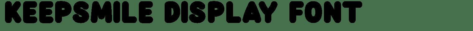 Keepsmile Display Font