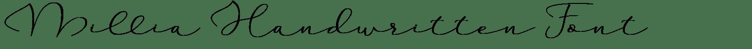 Millia Handwritten Font