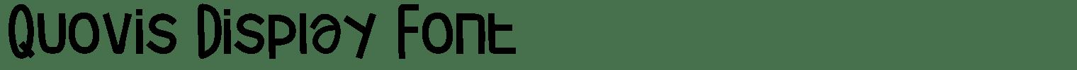 Quovis Display Font
