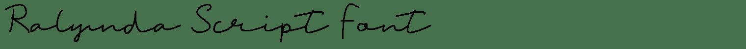 Ralynda Script Font