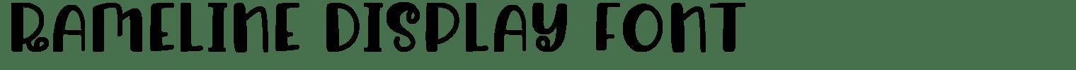 Rameline Display Font