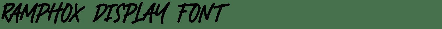 Ramphox Display Font