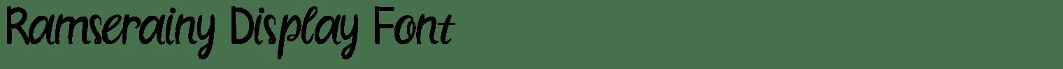 Ramserainy Display Font