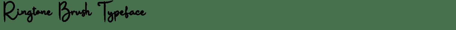 Ringtone Brush Typeface