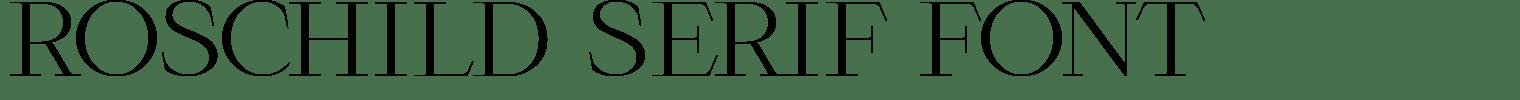 Roschild Serif Font