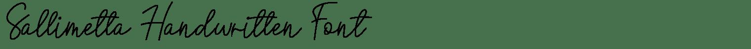 Sallimetta Handwritten Font