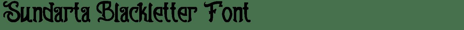 Sundarta Blackletter Font
