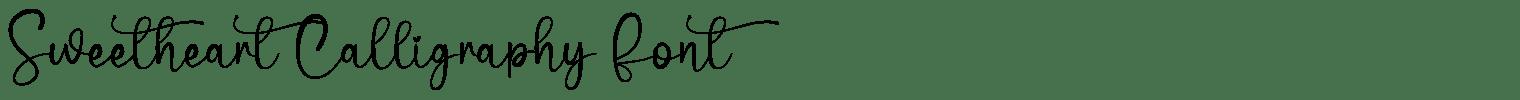 Sweetheart Calligraphy Font